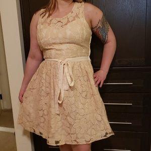 Pins & Needles BEIGE Lace Dress size 12